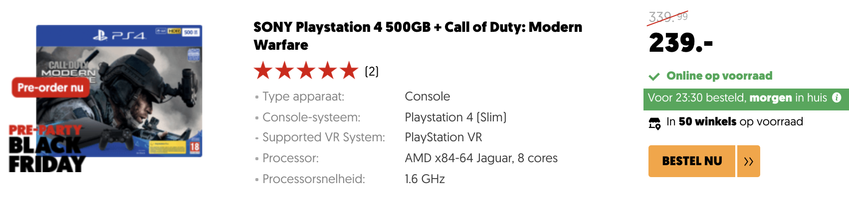 PS4 Black Friday Call of Duty