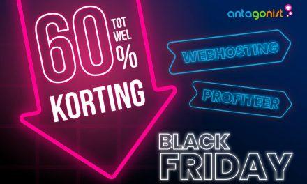 Antagonist Black Friday 2019 | Tot 60% korting op hosting & domeinnamen