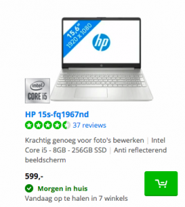 HP 15s-fq1967nd Black Friday