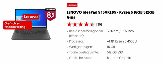 Lenovo IdeaPad 5 15ARE05 Black Friday
