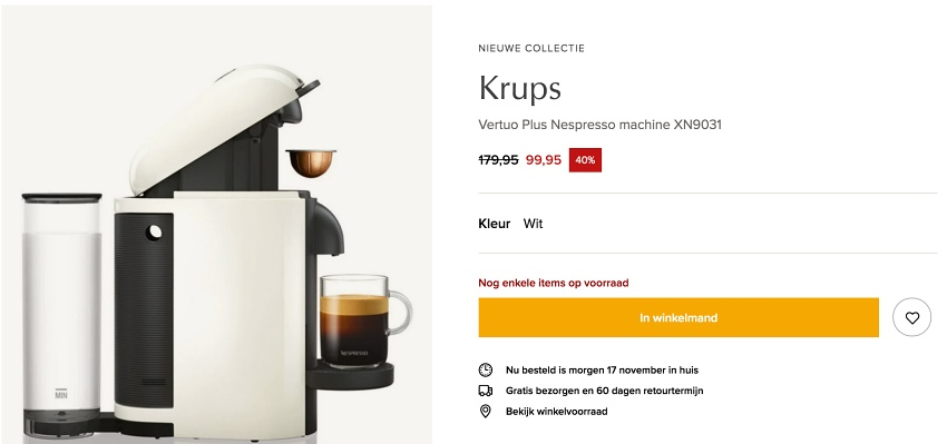 Nespresso Vertuo Black Friday