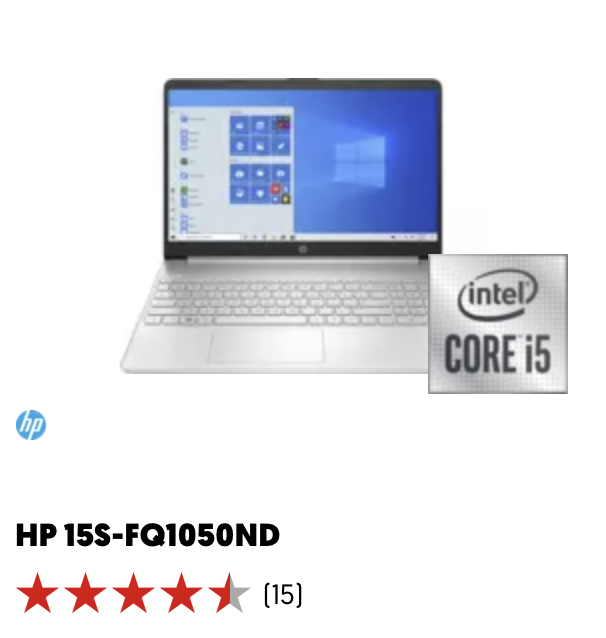 HP 15S-FQ1050ND black friday