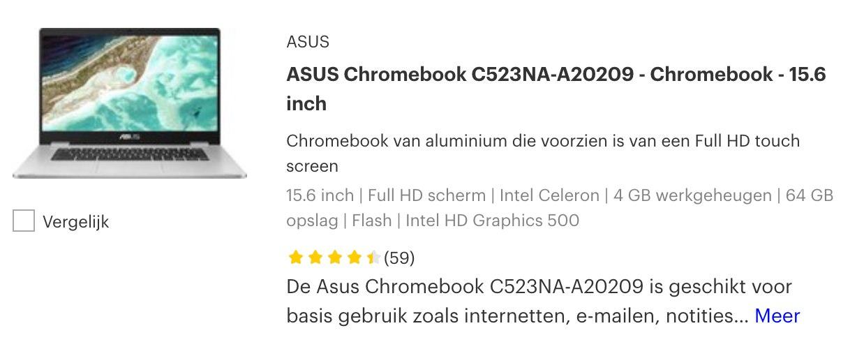 ASUS Chromebook C523NA-A20209 black friday