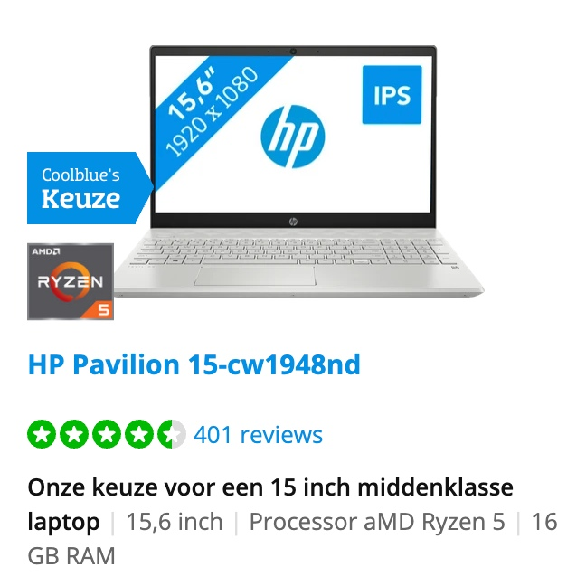 HP Pavilion 15-cw1948nd black friday